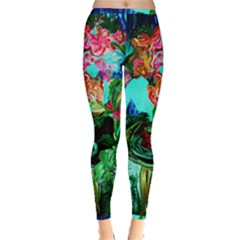 Flowers On The Tea Table Inside Out Leggings