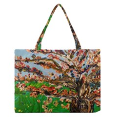 Coral Tree Zipper Medium Tote Bag by bestdesignintheworld