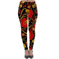 Native Russian Khokhloma Lightweight Velour Leggings