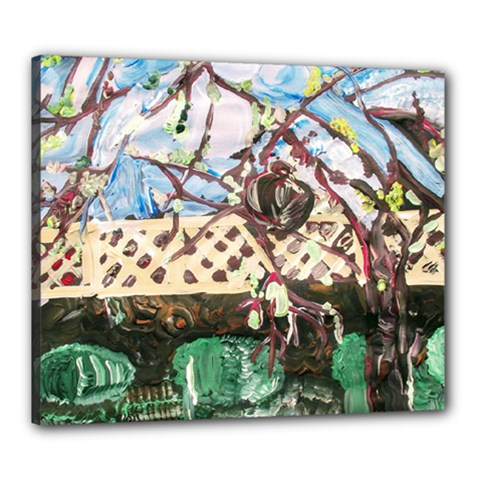 Blooming Tree 2 Canvas 24  X 20  by bestdesignintheworld
