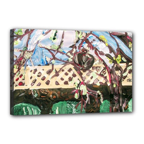 Blooming Tree 2 Canvas 18  X 12  by bestdesignintheworld
