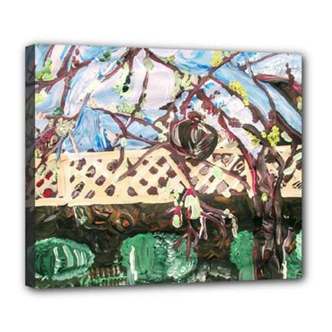 Blooming Tree 2 Deluxe Canvas 24  X 20   by bestdesignintheworld