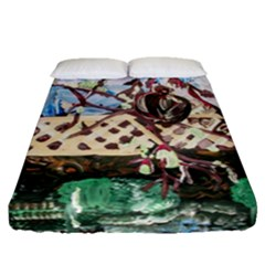 Blooming Tree 2 Fitted Sheet (queen Size) by bestdesignintheworld