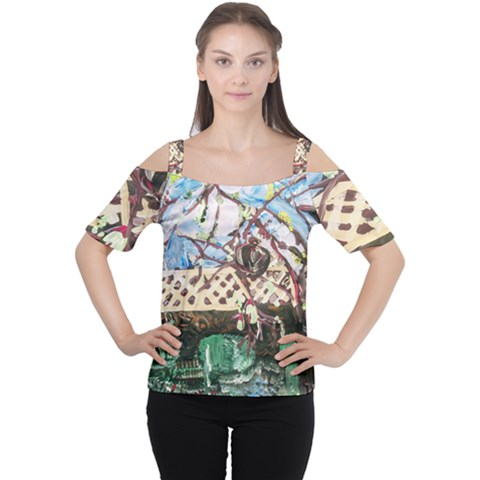 Blooming Tree 2 Cutout Shoulder Tee by bestdesignintheworld