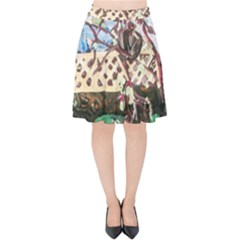 Blooming Tree 2 Velvet High Waist Skirt by bestdesignintheworld