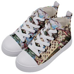Blooming Tree 2 Kid s Mid Top Canvas Sneakers by bestdesignintheworld