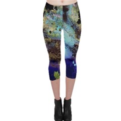 Blue Options 3 Capri Leggings  by bestdesignintheworld