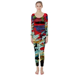 Blue Flamingoes 6 Long Sleeve Catsuit by bestdesignintheworld