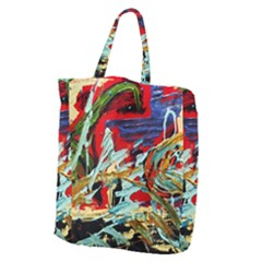 Blue Flamingoes 6 Giant Grocery Zipper Tote by bestdesignintheworld