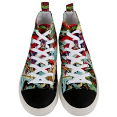 Blue Flamingoes 6 Men s Mid Top Canvas Sneakers