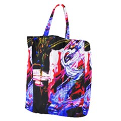 Blue Flamingoes Giant Grocery Zipper Tote by bestdesignintheworld