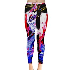 Blue Flamingoes Inside Out Leggings by bestdesignintheworld