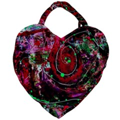 Bloody Coffee 7 Giant Heart Shaped Tote by bestdesignintheworld