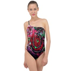 Bloody Coffee 7 Classic One Shoulder Swimsuit
