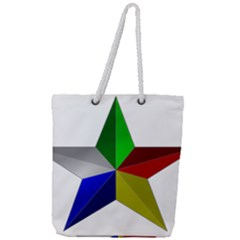 Druze Star Full Print Rope Handle Tote (large) by abbeyz71