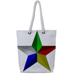 Druze Star Full Print Rope Handle Tote (small) by abbeyz71