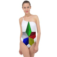 Druze Star Classic One Shoulder Swimsuit