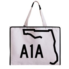Florida State Road A1a Zipper Mini Tote Bag by abbeyz71