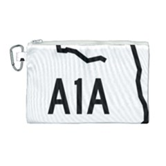 Florida State Road A1a Canvas Cosmetic Bag (large) by abbeyz71