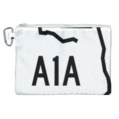 Florida State Road A1a Canvas Cosmetic Bag (xl) by abbeyz71