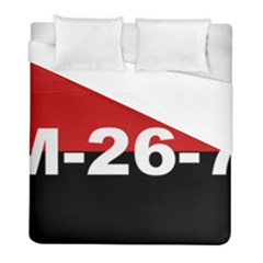 The 26th Of July Movement Flag Duvet Cover (full/ Double Size) by abbeyz71