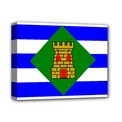 Flag Of Vieques Deluxe Canvas 14  X 11  by abbeyz71