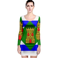 Flag Of Vieques Long Sleeve Bodycon Dress by abbeyz71