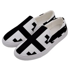 Black Jerusalem Cross  Men s Canvas Slip Ons by abbeyz71