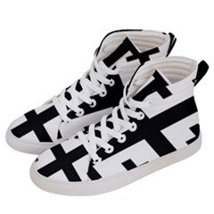 Black Jerusalem Cross  Women s Hi Top Skate Sneakers by abbeyz71