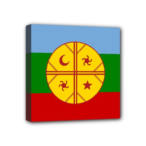 Flag Of The Mapuche People Mini Canvas 4  X 4  by abbeyz71