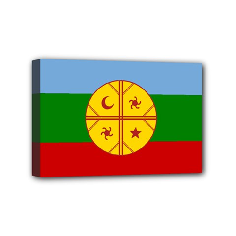 Flag Of The Mapuche People Mini Canvas 6  X 4  by abbeyz71