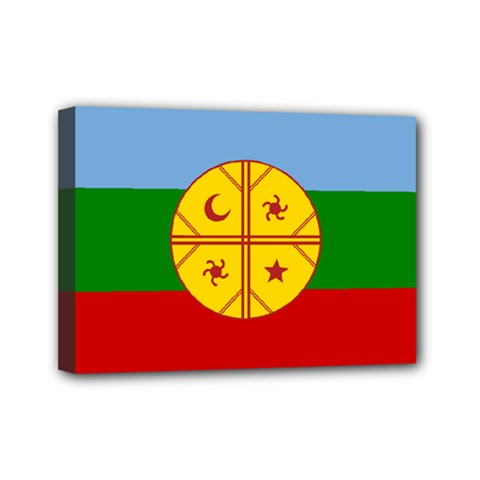 Flag Of The Mapuche People Mini Canvas 7  X 5  by abbeyz71