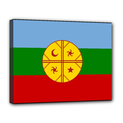 Flag Of The Mapuche People Canvas 14  X 11  by abbeyz71