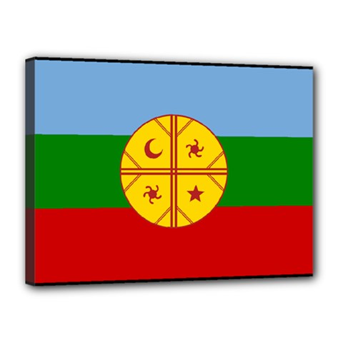 Flag Of The Mapuche People Canvas 16  X 12  by abbeyz71