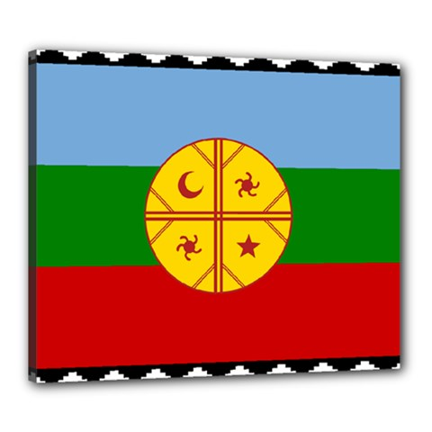 Flag Of The Mapuche People Canvas 24  X 20  by abbeyz71