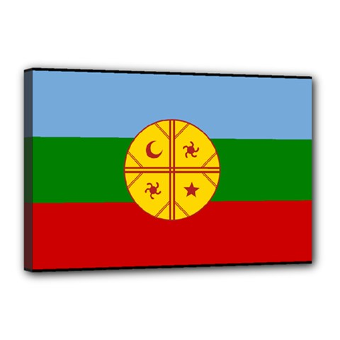 Flag Of The Mapuche People Canvas 18  X 12  by abbeyz71