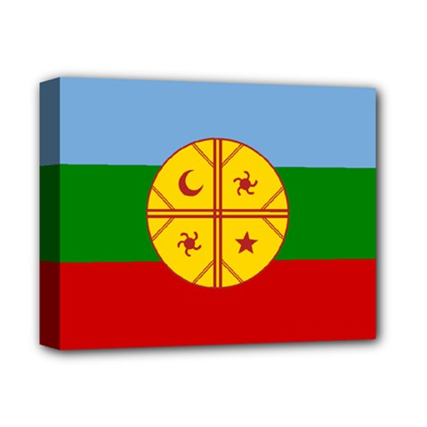 Flag Of The Mapuche People Deluxe Canvas 14  X 11  by abbeyz71
