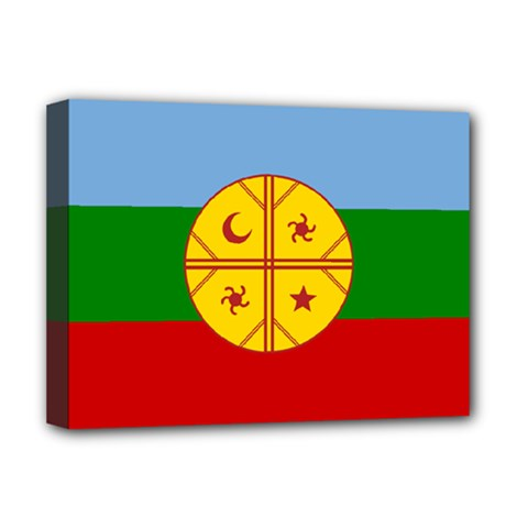 Flag Of The Mapuche People Deluxe Canvas 16  X 12   by abbeyz71