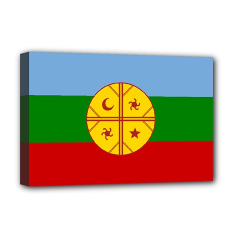 Flag Of The Mapuche People Deluxe Canvas 18  X 12   by abbeyz71