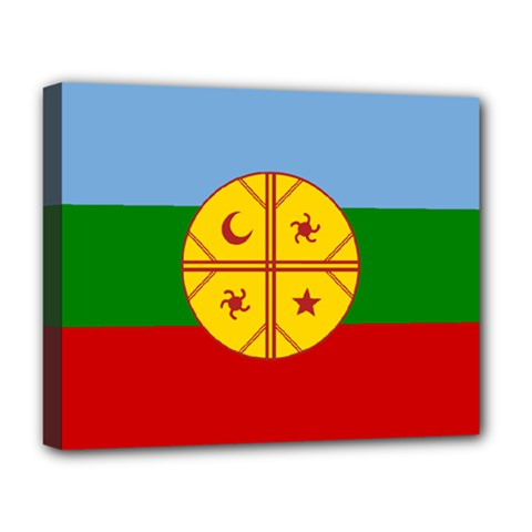 Flag Of The Mapuche People Deluxe Canvas 20  X 16   by abbeyz71