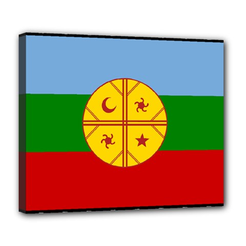 Flag Of The Mapuche People Deluxe Canvas 24  X 20   by abbeyz71