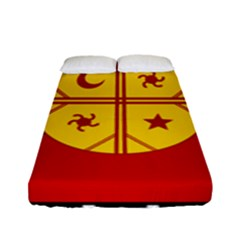 Flag Of The Mapuche People Fitted Sheet (full/ Double Size) by abbeyz71
