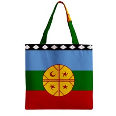Flag Of The Mapuche People Zipper Grocery Tote Bag by abbeyz71
