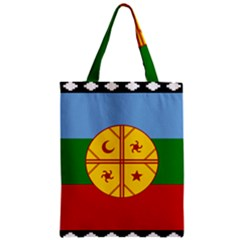 Flag Of The Mapuche People Zipper Classic Tote Bag by abbeyz71