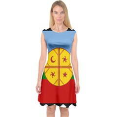 Flag Of The Mapuche People Capsleeve Midi Dress by abbeyz71