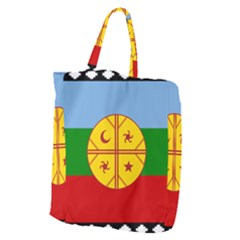 Flag Of The Mapuche People Giant Grocery Zipper Tote by abbeyz71