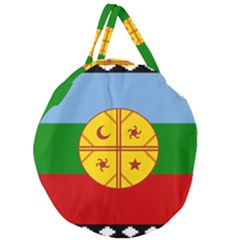 Flag Of The Mapuche People Giant Round Zipper Tote by abbeyz71