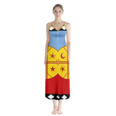 Flag Of The Mapuche People Button Up Chiffon Maxi Dress by abbeyz71
