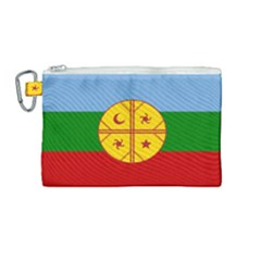 Flag Of The Mapuche People Canvas Cosmetic Bag (medium) by abbeyz71