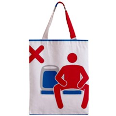 No Manspreading Sign Zipper Classic Tote Bag by abbeyz71
